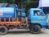 V-Guard provided a cesspool emptying truck to Rangpo Nagar Panchayat as part of its Swachh Bharat initiative.