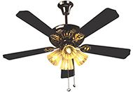 VGL Black ceiling fan