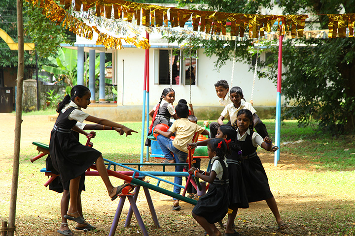 V-GSchool Park constructed at Rayanapuram as a part of Government School Strengthening Project