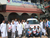Provided Ambulances to Gauhati lions Eye Hospital,Gauhati  as part of 40th Anniversary - 40 Ambulances across India