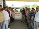 Provided Ambulances to L.D Bhatti goverment hospital Kashipur  as part of 40th Anniversary - 40 Ambulances across India